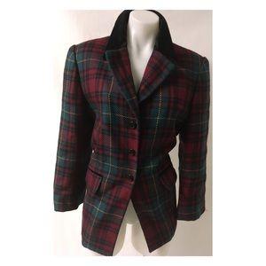 Vintage Plaid Blazer Size 10